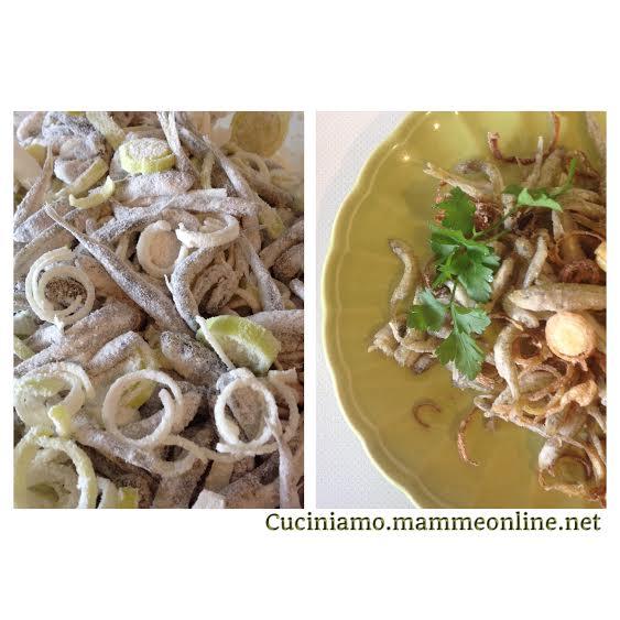 Latterini e porro fritti in tempura... alla veneziana