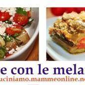 Ricette con le melanzane, raccolta