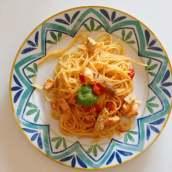 Spaghetti con sugo di pesce spada