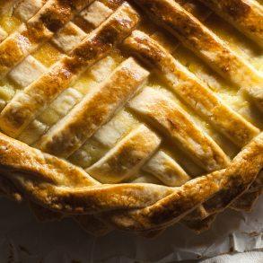 crostata de requesón y crema pastelera con masa frolla casera