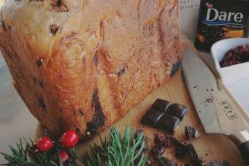 pannetone cu ciocolata si merisoare