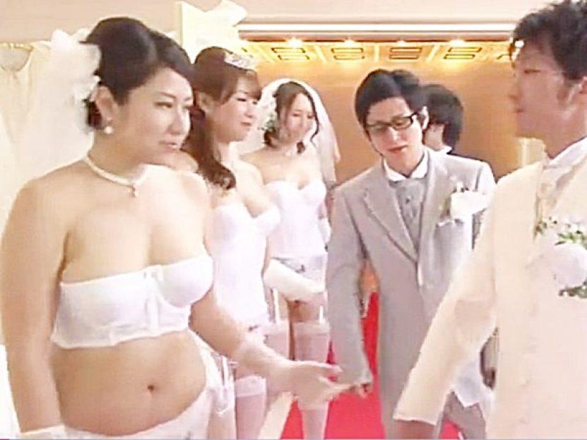 ◆近親相姦・合同結婚式|孕ませ企画◆『それでは、向かい合って下さい!』親子で愛し合う3組のカップルがセックス始めますョ