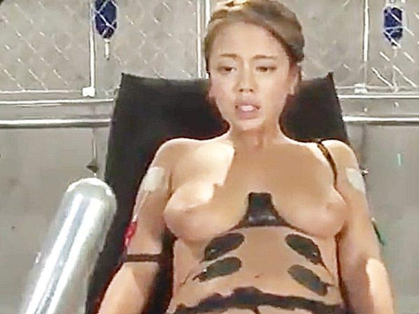 ◆拷問・電流責め|絶叫アクメ・奴隷調教◆「コレ、イッちゃう~」『なっ、、ナニそれ..!?』ハーフ顔美女に、ぶち込みますョ