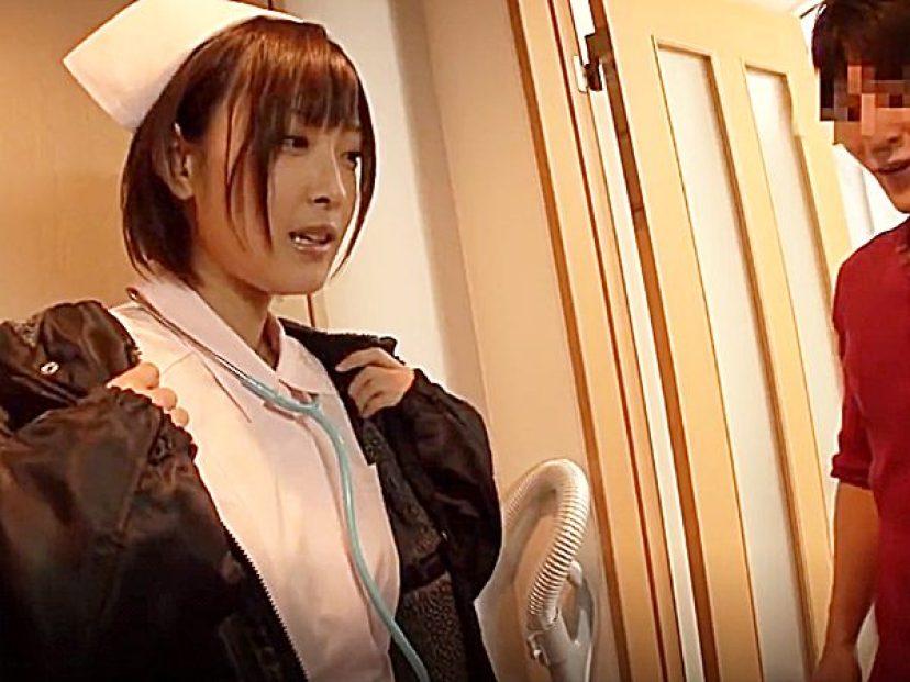 ☆素人企画・自宅訪問|着エロ・小倉ゆず☆『おおーッ、コレは..』27歳・会社員男性のお宅へ突撃するナース姿のAV女優です