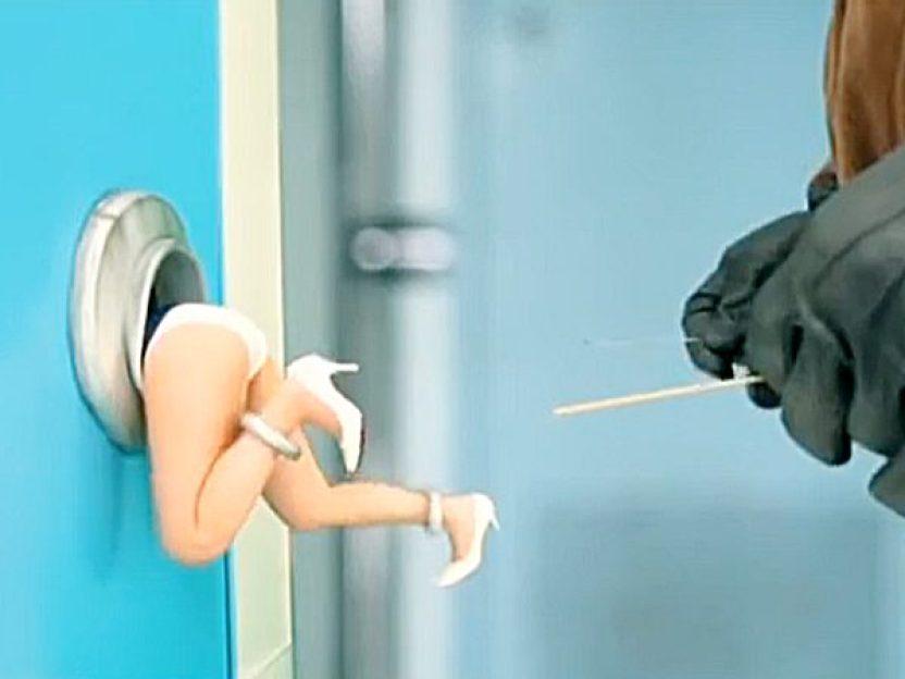 ★エロドラマ 成瀬心美★『やっ、ヤメて..!?』可愛い女子がドアノブ。。!?鍵穴マンコが泥棒にイタズラされちゃいますョ~