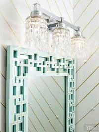 DIY crystal vanity light shades - Cuckoo4Design