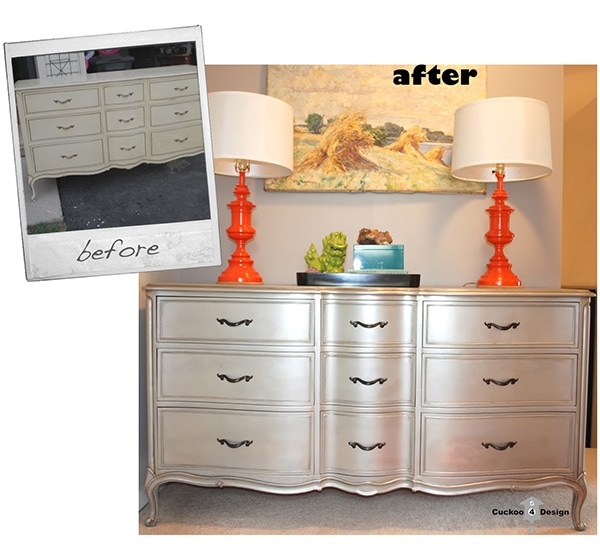 Silver Dresser with a Trick  Cuckoo4Design