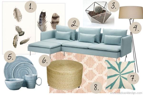 Moodboard With Ikea SODERHAMN Sofa Cuckoo4Design