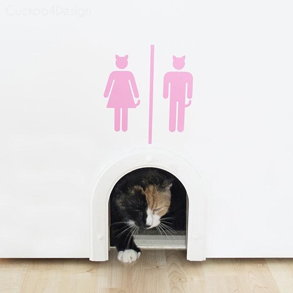 Vinyl Cat Litter Box Sign