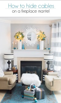 How to hide cables on a fireplace mantel | Cuckoo4Design