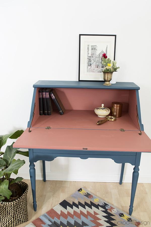 Annie Sloan Secretary Desk Makeover Cuckoo4Design