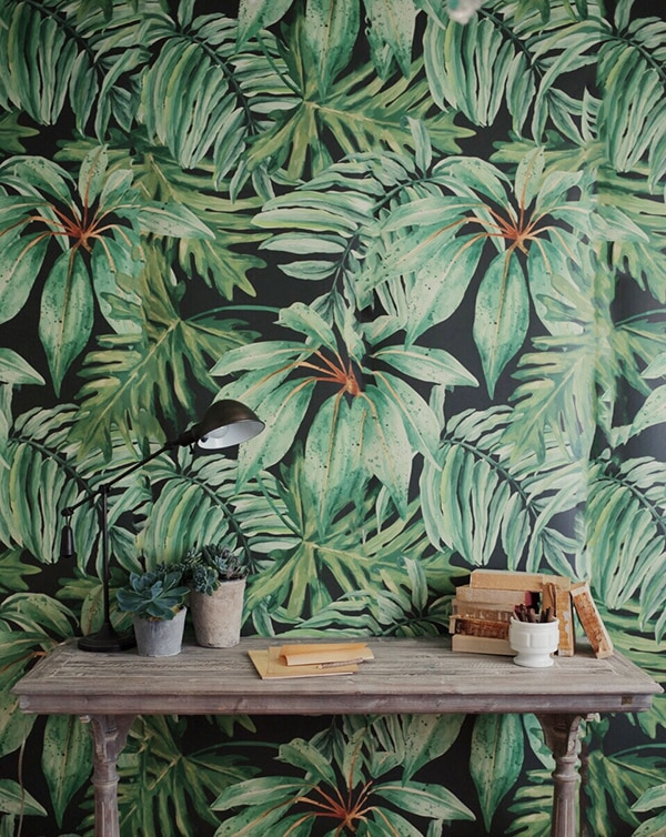 Palm Leaves Wallpaper Vintage Golden Girls Friday Etsy Features Cuckoo4design