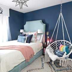 Bedroom Hanging Chair Cheap Game Target Dark Blue Girls Room | Cuckoo4design