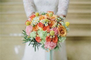 Bright & Colorful Bouquet for Geh's Polka Wedding // photo by Salt and Bleach It | Jeff Garban