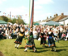 Forest School of Dance at the Maypole in 2006