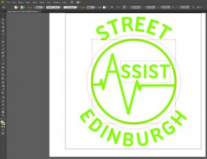 SAE logo in Illustrator