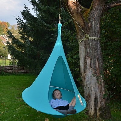 Cacoon Hanging Chair Bonsai Cacoon Kids Hanging Chair In Turquoise