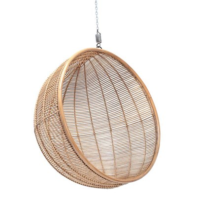 Indoor Hanging Chairs Rattan Indoor Hanging Chair In Natural Finish