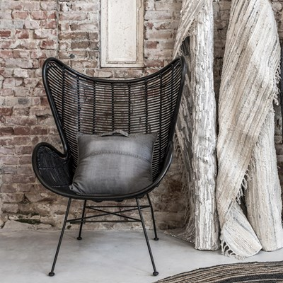 Egg Wicker Chair Rattan Egg Chair In Black