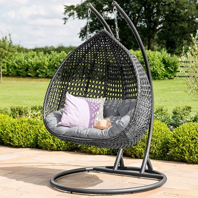 Hanging Patio Chair Maze Rattan Rose Outdoor Hanging Chair