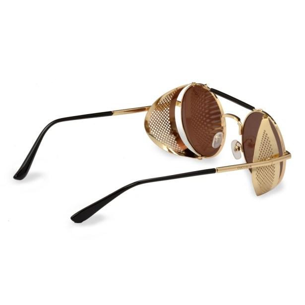 Óculos de Sol Marrom com Dourado Barcelona