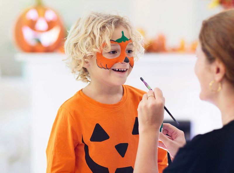 Educational toy for kids make up for Halloween