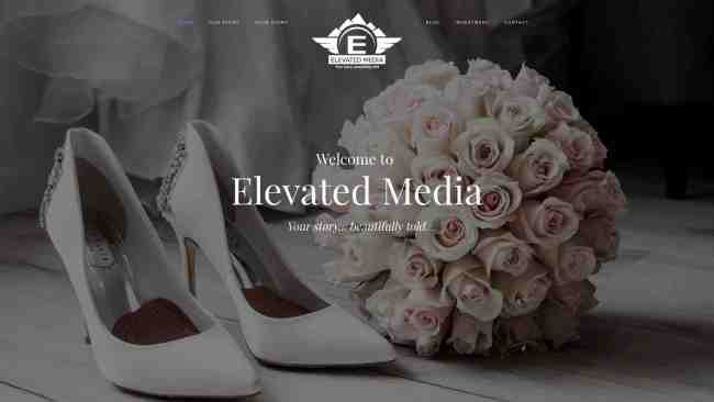 Elevated Media West Virginia Wedding Photography WV Web Design by Cucumber & Company