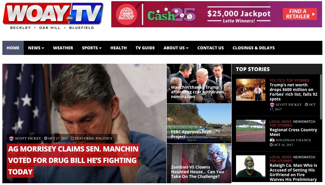 WOAY TV Website redesign by Cucumber & Company Beckley Princeton Bluefield Charleston Huntington West Virginia Web Design
