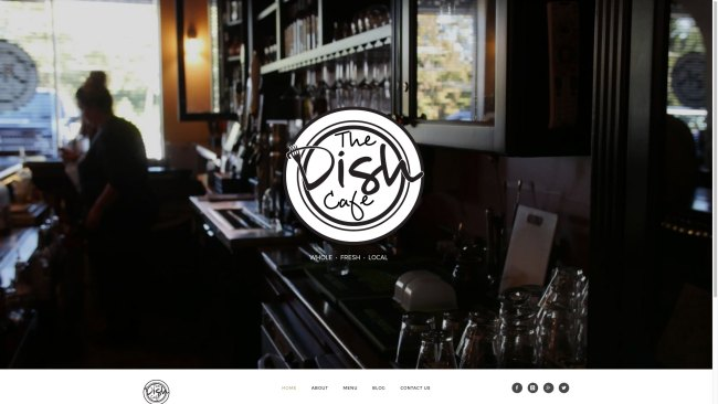 the dish cafe web site homepage