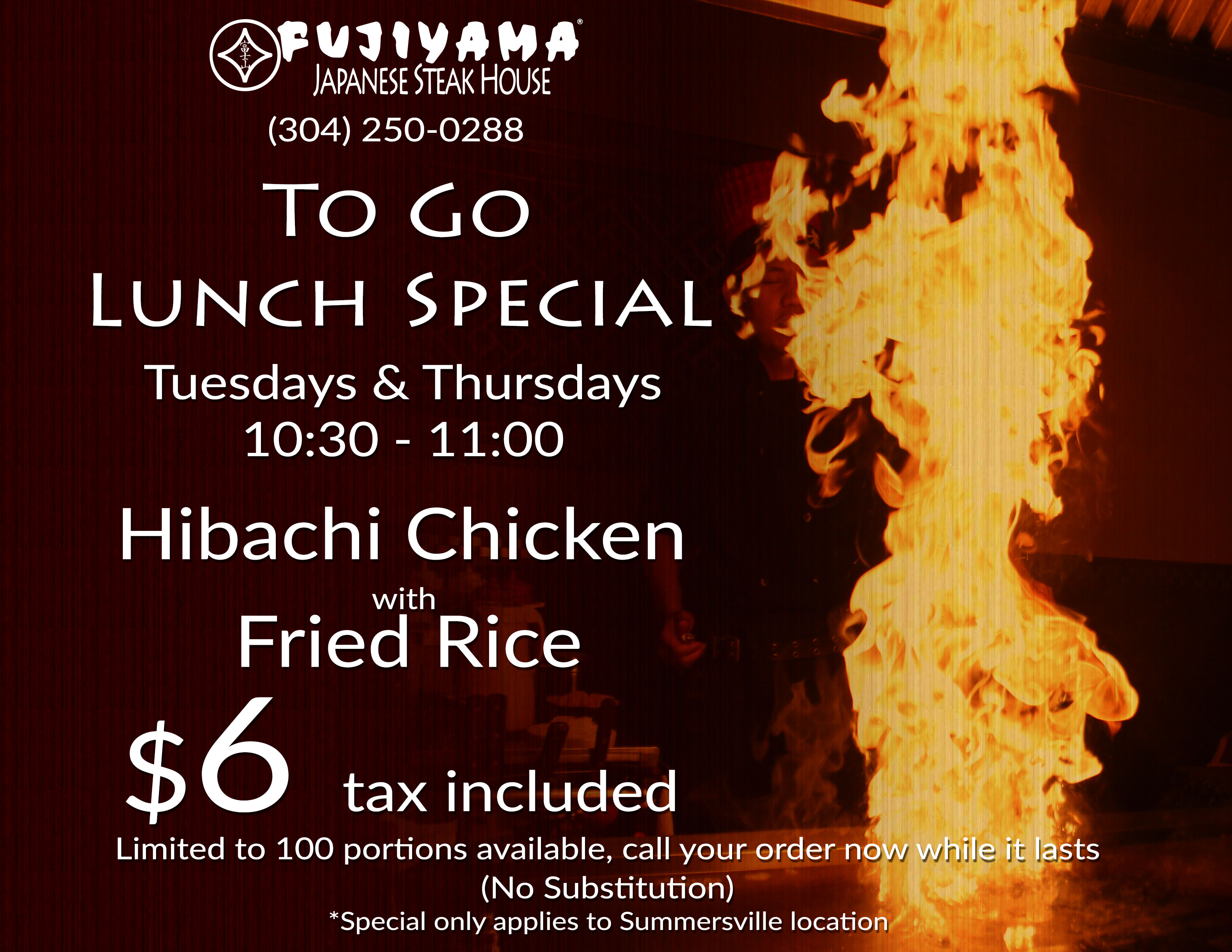 Fujiyama Japanese Steak House Flyer Online Digital Marketing Graphic Design Cucumber and Company