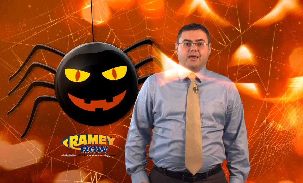 Ramey Row Halloween background with guy Video Production Beckley