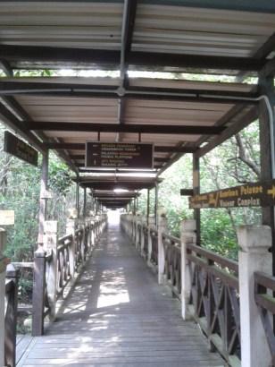 Laluan ke hujung jambatan