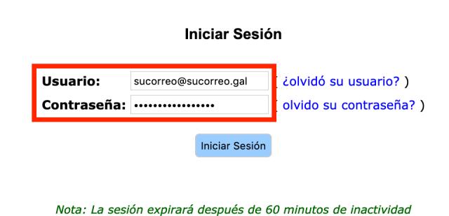 Inicio de sesión en Openconf