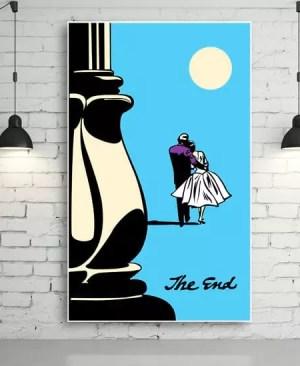 """The End"" - Romantyczny plakat"