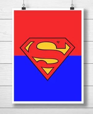 "Symbol Superbohatera ""Superman"" - plakat"