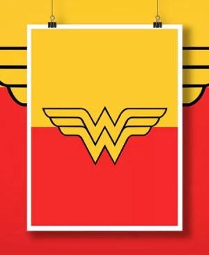 "Symbol Superbohatera ""Wonder Woman"" - plakat"