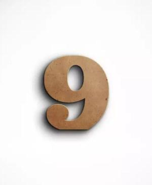 Stojąca cyfra 9