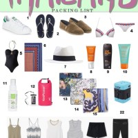 Thailand Packing List