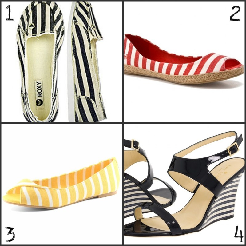sailor inspired fashion: striped shoes