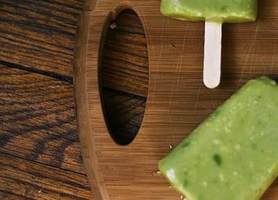 avocado popsicles via A Cup of Jo