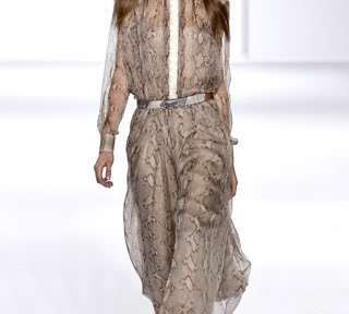 chloe snakeskin dress