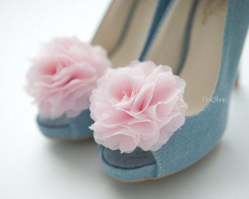 diy shoes: flower shoe clip finkshop