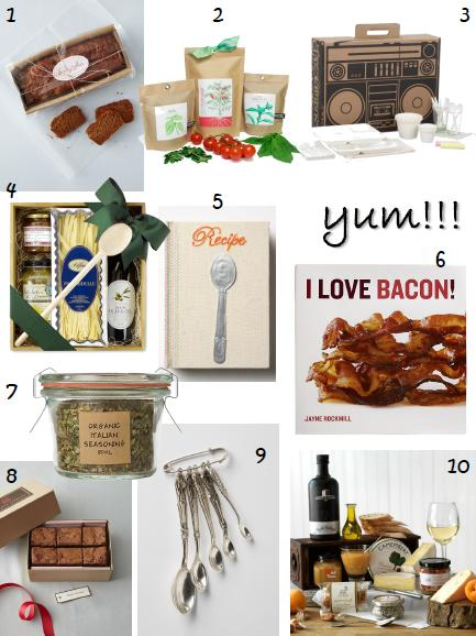 holiday gift guide - foodie