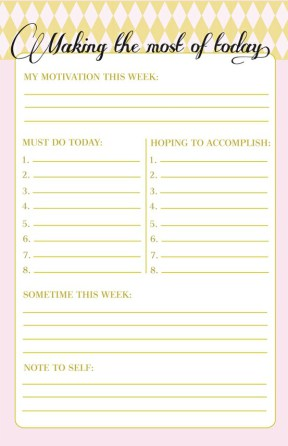 making the most of today checklist