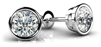 bezel-set-round-diamond-stud-earrings