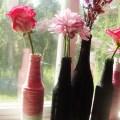 DIY glitter bottle vases