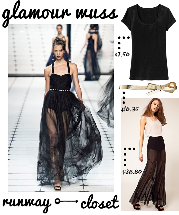 glamour wuss: fashion from the runway to your closet