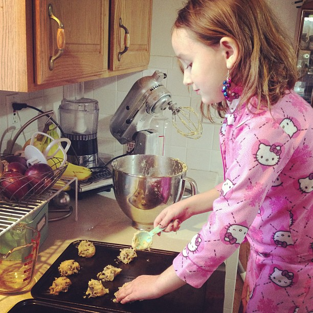 baking cookies instagram shot