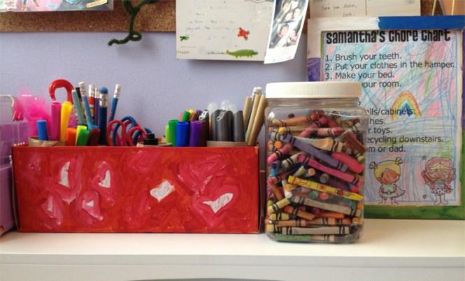 Pintervention: #DIY craft supplies #organization from @jennifergarry via @auntpeachesblog