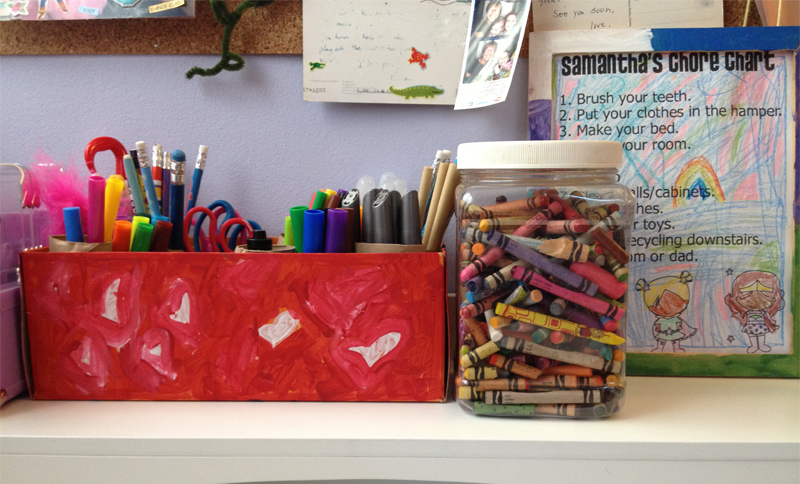 Pintervention: #DIY craft supplies #organization from @jennifergarry via @auntpeachesblog